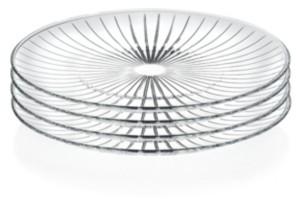 """Lorren Home Trends Sunbeam 10"""" Dinner Plates - Set of 4"""