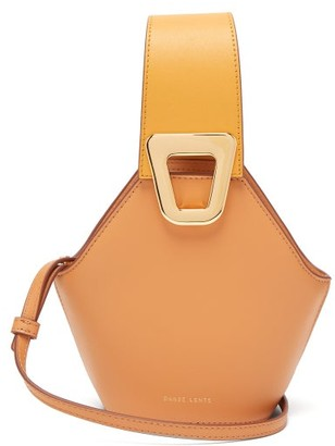 Danse Lente Johnny Mini Leather Bucket Bag - Womens - Orange Multi