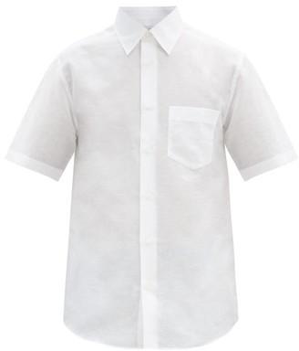 Dunhill Short-sleeved Linen-blend Shirt - White
