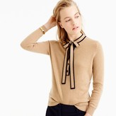 J.Crew Italian cashmere tie-neck sweater