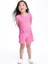 Old Navy Heathered-Jersey Romper for Toddler Girls