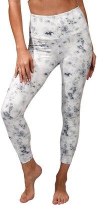 90 Degree By Reflex Lux Printed High Waist Ankle Leggings