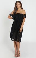 Showpo Get Ready dress in black lace - 6 (XS) Wedding Guest