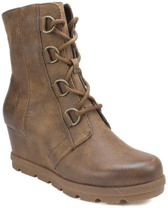 White Mountain Nellie Mid Calf Wedge Boots Women Shoes