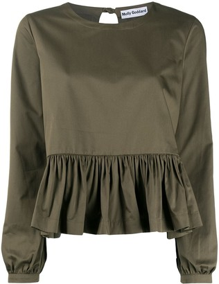 Molly Goddard Ruffled Hem Blouse