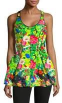 Rosie Assoulin Peplum Floral Top