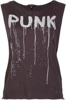 R 13 'Punk' sleeveless destroyed shirt