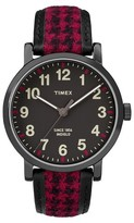 Timex Originals Watch with Houndstooth Strap - Black/Red TW2P989002B