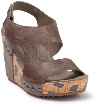 Antelope Cutout Leather Wedge Sandal