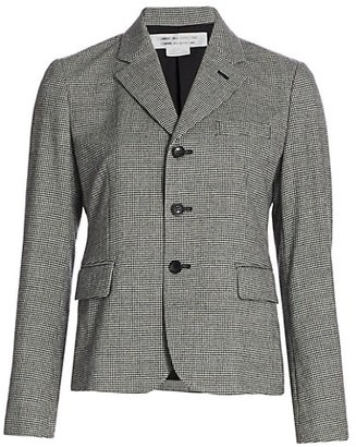 Comme des Garçons Comme des Garçons Houndstooth Wool-Blend Jacket