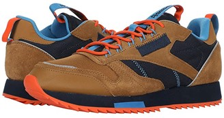 Reebok Classic Leather Ripple Trail (Wild Brown/Collegiate Navy/Cyan) Men's Shoes