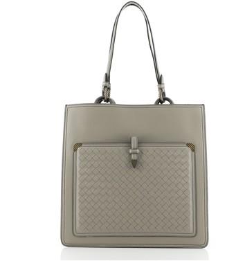Bottega Veneta Ring Pocket Shopping Tote Leather with Intrecciato Detail Medium