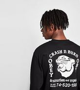 Obey Long-sleeved Crash Burn T-shirt