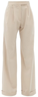 16Arlington Sakura Wide-leg Crepe Trousers - Light Beige