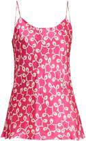 DURO OLOWU Ivy abstract-print satin cami top