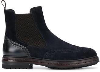 Santoni Elasticated Panel Ankle Boots