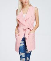 Blush Trench Tie-Waist Vest