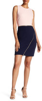 Spense Colorblock Zipper Dress