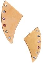 Maria Francesca Pepe Thorn Shaped Earrings - Gold