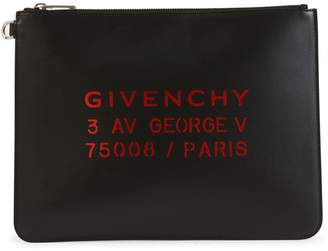 Givenchy address large pouch in leather