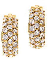 Lauren Ralph Lauren Clip-On Pave Hoop Earrings