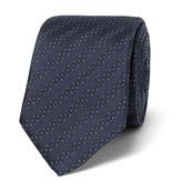 HUGO BOSS 6cm Polka-dot Silk-jacquard Tie - Navy