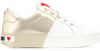 Love Moschino Two-Tone Low-Top Sneakers