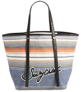 See by Chloe Stripe Canvas Tote - Black