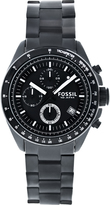 Fossil CH2601 Men's Decker Black Stainless Steel Watch with Chronograph