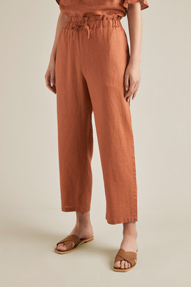 Seed Heritage Linen Tie Up Pants