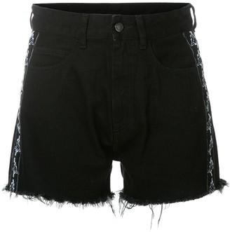 Marcelo Burlon County of Milan Kids X Kappa frayed shorts