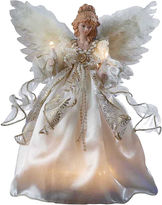 Kurt Adler 12 Ivory and Gold Angel Lighted Treetopper