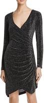 Aqua Metallic Ruched Dress