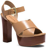Michael Kors Dara Leather Platform Sandal