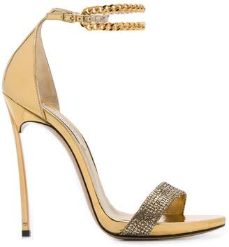 Casadei metallic heeled sandals