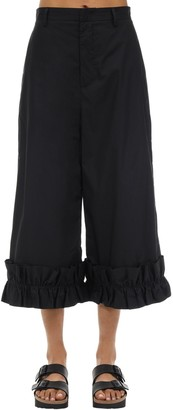 MONCLER GENIUS Noir Cotton Pants W/ Ruffles