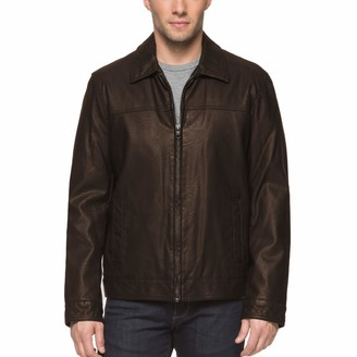 Tommy Hilfiger Men's Big & Tall Smooth Faux Leather Classic James Dean Jacket