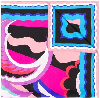 Emilio Pucci Acapulco Print Silk Square Scarf
