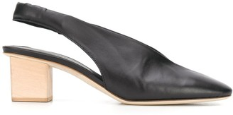 Del Carlo Slingback 55mm Leather Pumps