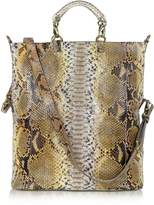 Ghibli Large Python Leather Tote