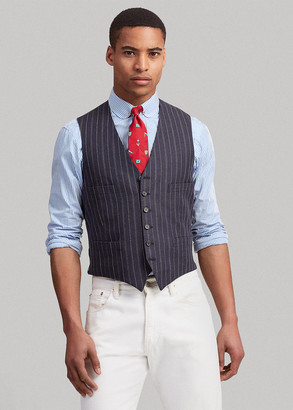 Ralph Lauren Striped Linen-Wool Vest
