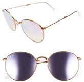 Ray-Ban Women's Icons 53Mm Folding Round Sunglasses - Lilac