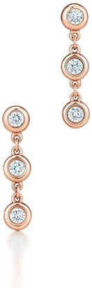 Tiffany & Co. Elsa Peretti Diamonds by the Yard drop earrings in 18k rose gold