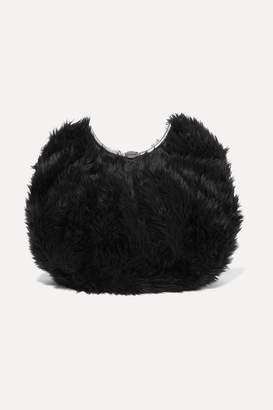 Balenciaga Faux Fur Clutch - Black