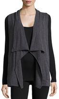 Calvin Klein Performance Drape-Front Vest