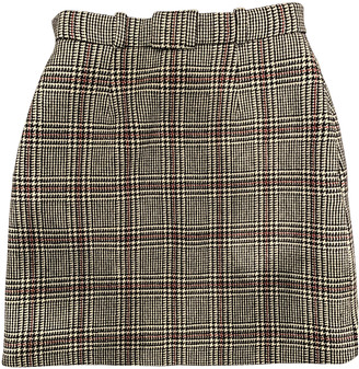 Carven Grey Wool Skirts