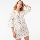 Thumbnail for your product : J.Crew Cotton voile V-neck beach tunic in pecan dot