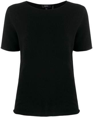 Theory short-sleeved cashmere top