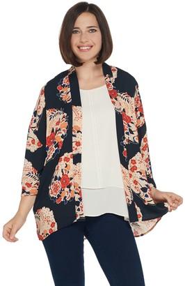 Laurie Felt Open Front Printed Kimono