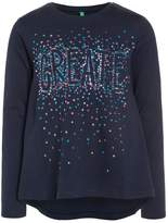 Benetton Long sleeved top dark blue